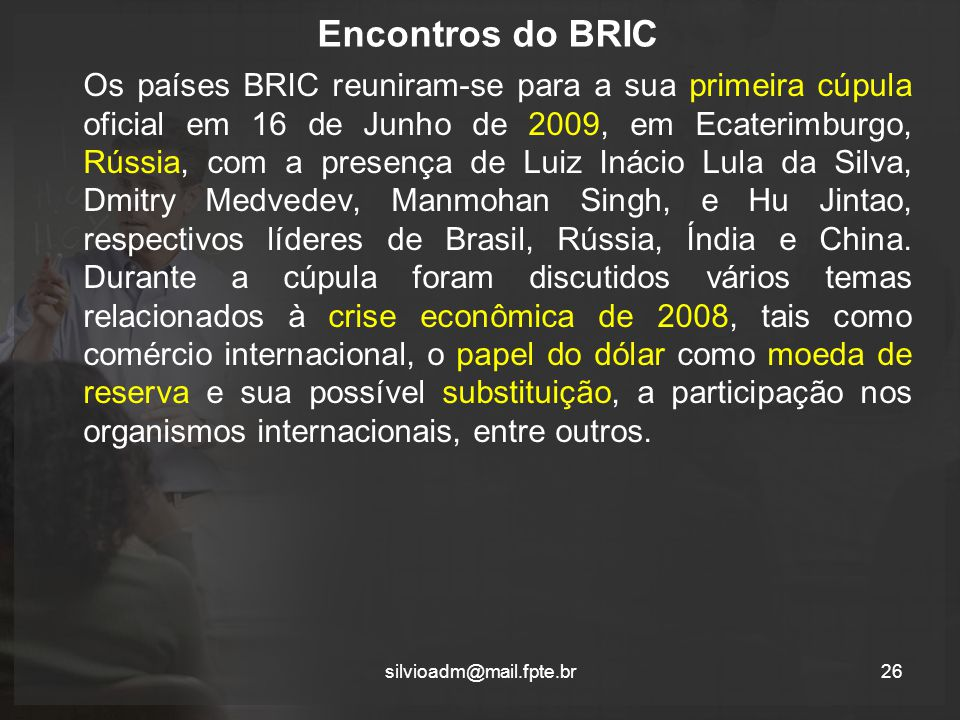 Encontros do BRIC