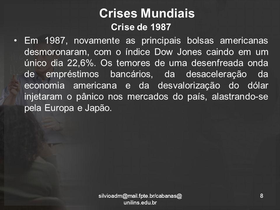 Crises Mundiais Crise de 1987