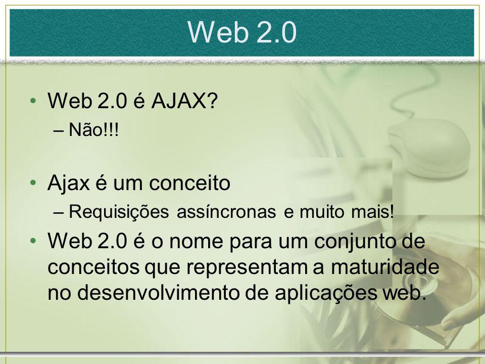 Web 2.0 Web 2.0 é AJAX Ajax é um conceito