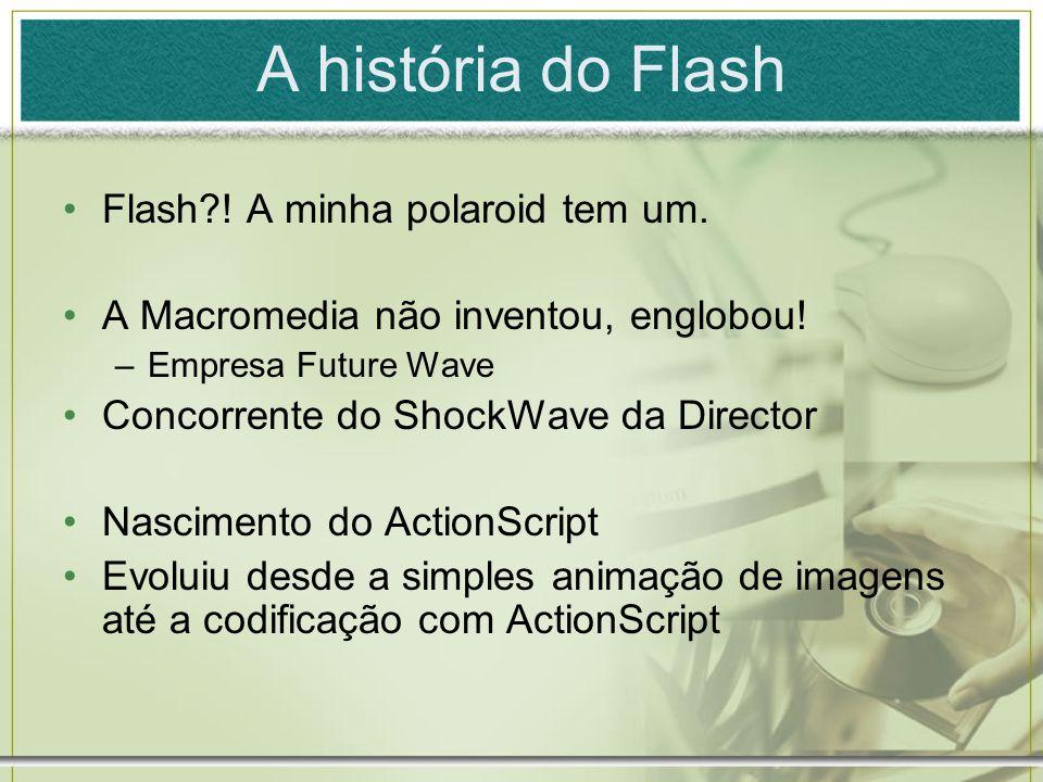 A história do Flash Flash ! A minha polaroid tem um.