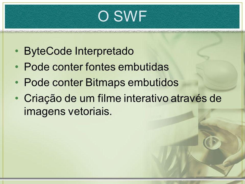 O SWF ByteCode Interpretado Pode conter fontes embutidas