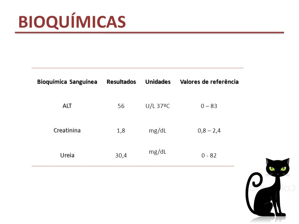 BIOQUÍMICAS Bioquímica Sanguínea Resultados Unidades