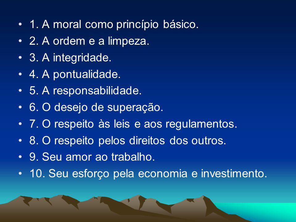 1. A moral como princípio básico.