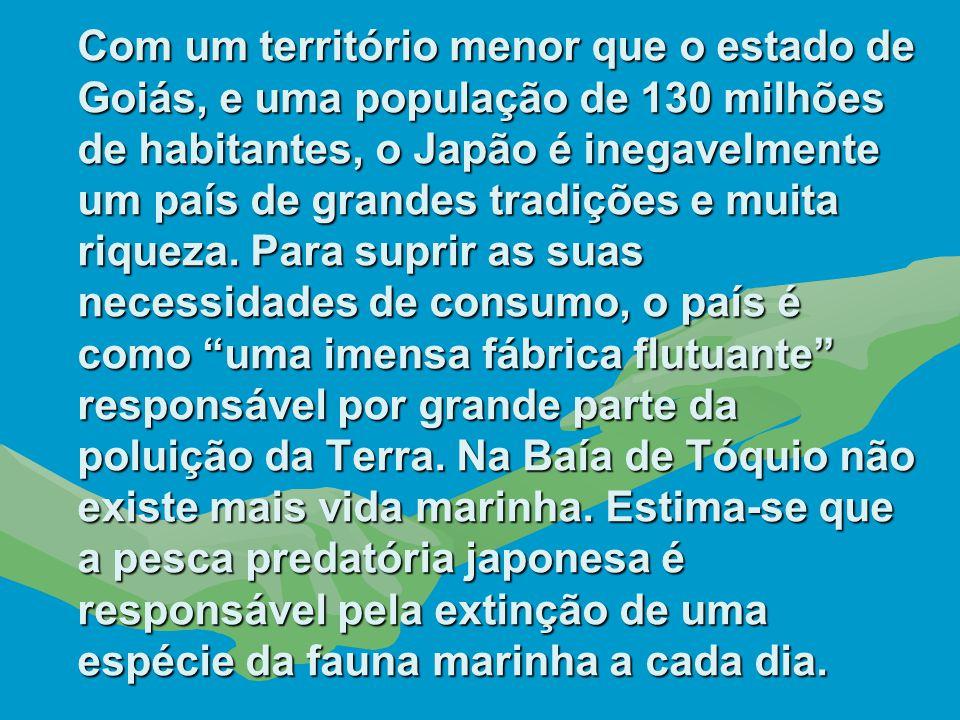 Com um território menor que o estado de Goiás, e uma população de 130 milhões de habitantes, o Japão é inegavelmente um país de grandes tradições e muita riqueza.