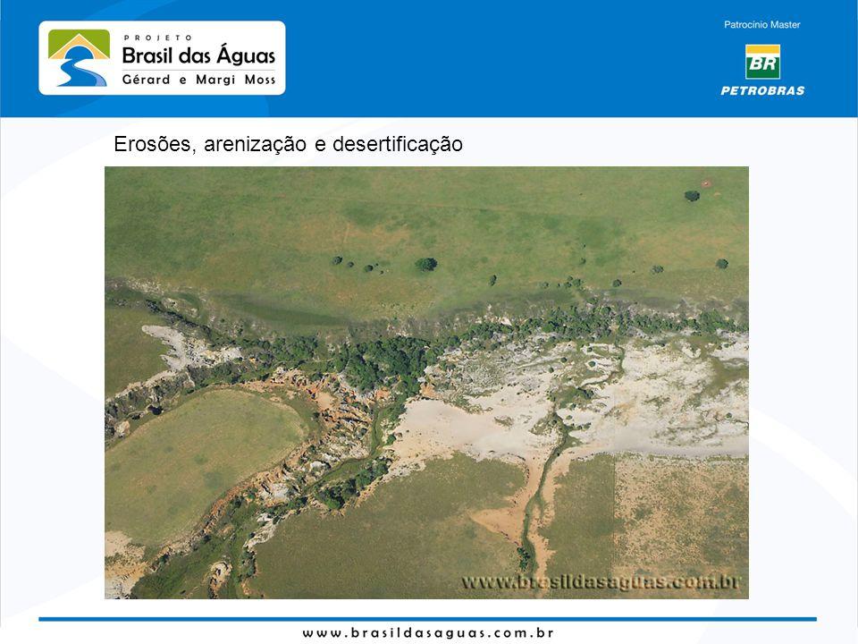 Erosões, arenização e desertificação