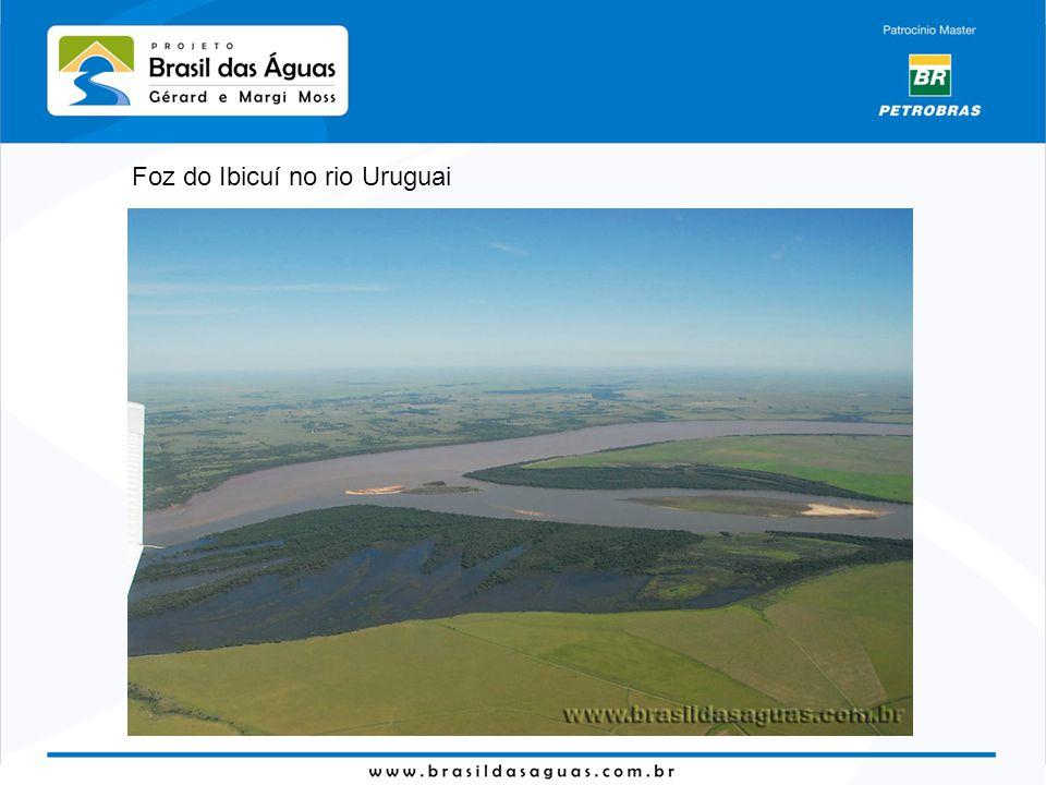 Foz do Ibicuí no rio Uruguai