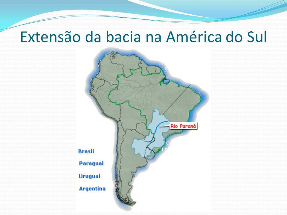 Extensão da bacia na América do Sul