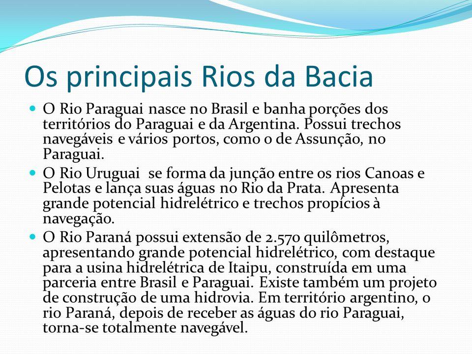 Os principais Rios da Bacia