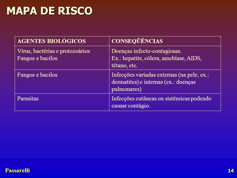 AGENTES BIOLÓGICOS CONSEQÜÊNCIAS. Vírus, bactérias e protozoários Fungos e bacilos. Doenças infecto-contagiosas.