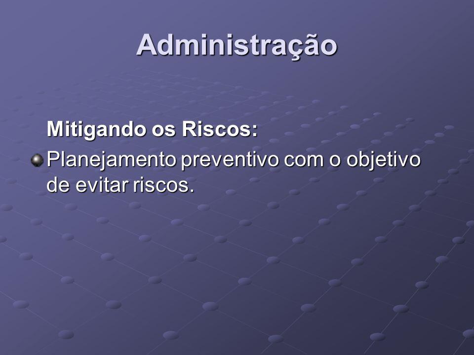 Administração Mitigando os Riscos: