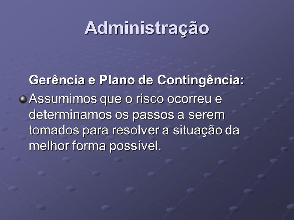 Administração Gerência e Plano de Contingência: