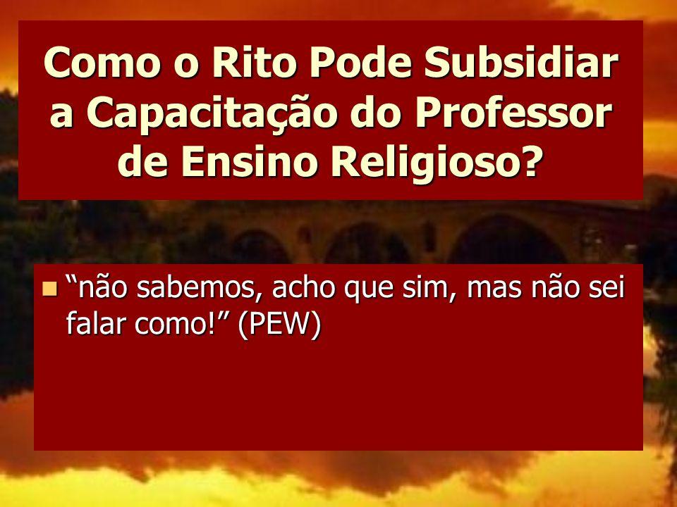 Como o Rito Pode Subsidiar a Capacitação do Professor de Ensino Religioso
