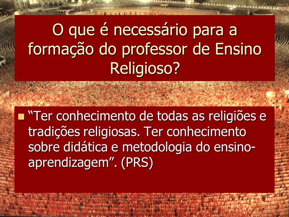 O que é necessário para a formação do professor de Ensino Religioso