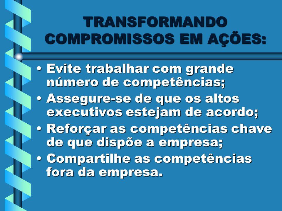 TRANSFORMANDO COMPROMISSOS EM AÇÕES: