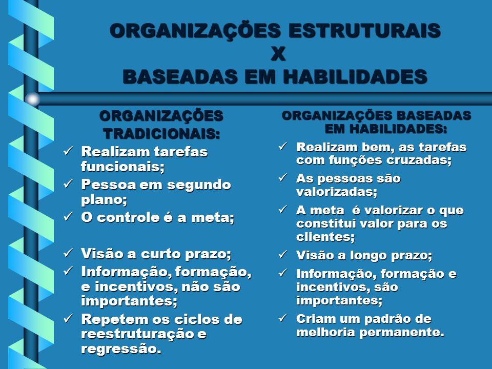 ORGANIZAÇÕES ESTRUTURAIS X BASEADAS EM HABILIDADES