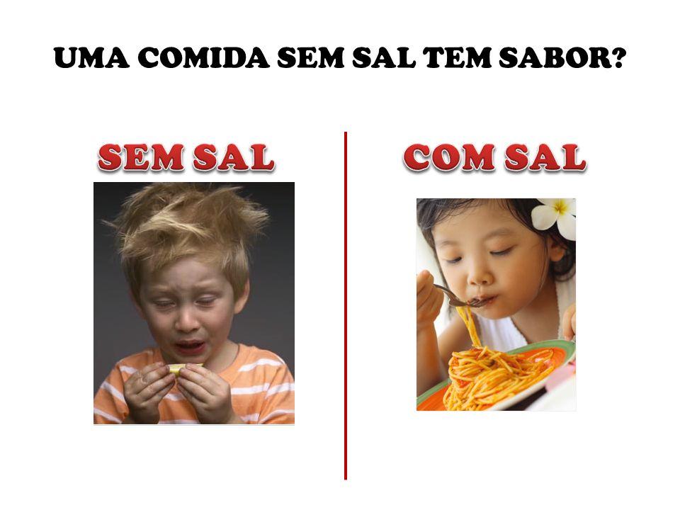 UMA COMIDA SEM SAL TEM SABOR