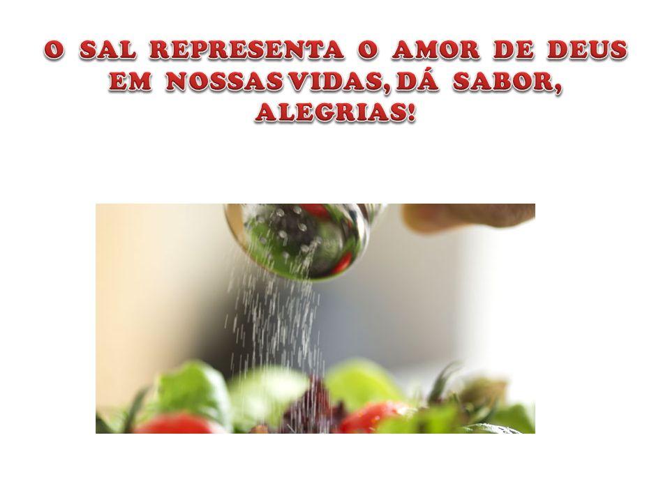 O SAL REPRESENTA O AMOR DE DEUS EM NOSSAS VIDAS, DÁ SABOR, ALEGRIAS!