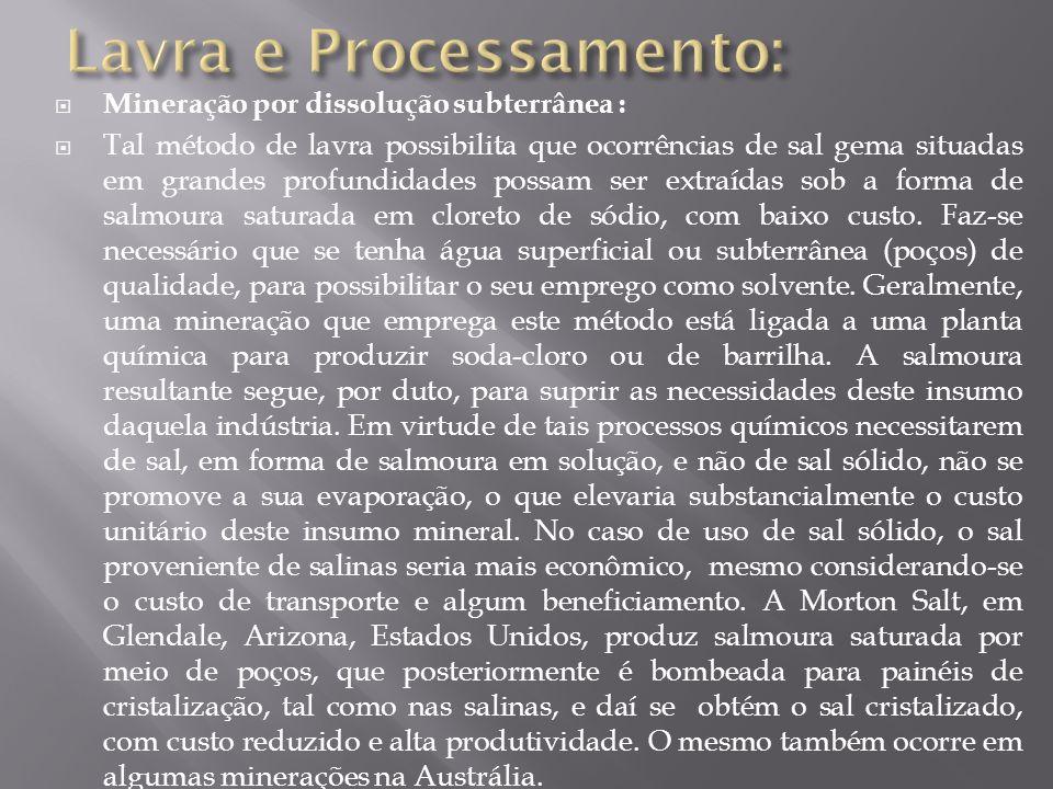 Lavra e Processamento: