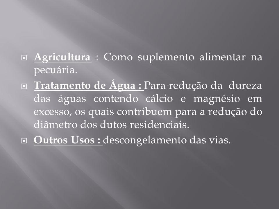 Agricultura : Como suplemento alimentar na pecuária.