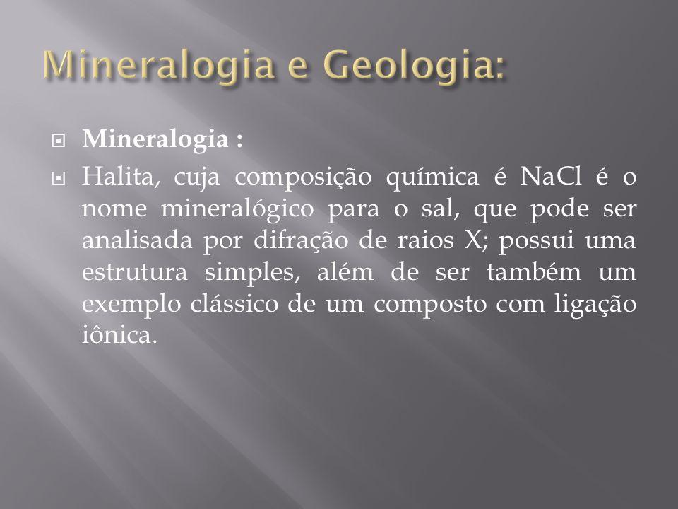 Mineralogia e Geologia: