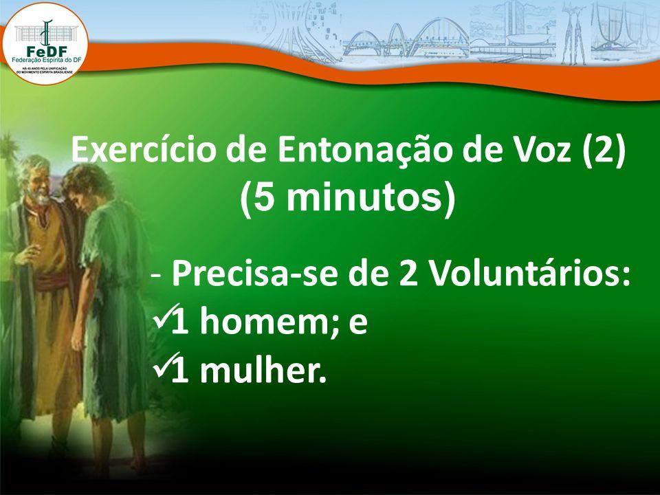 Exercício de Entonação de Voz (2)