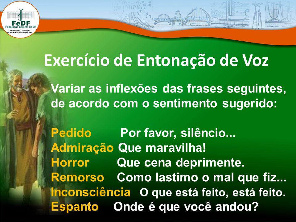 Exercício de Entonação de Voz