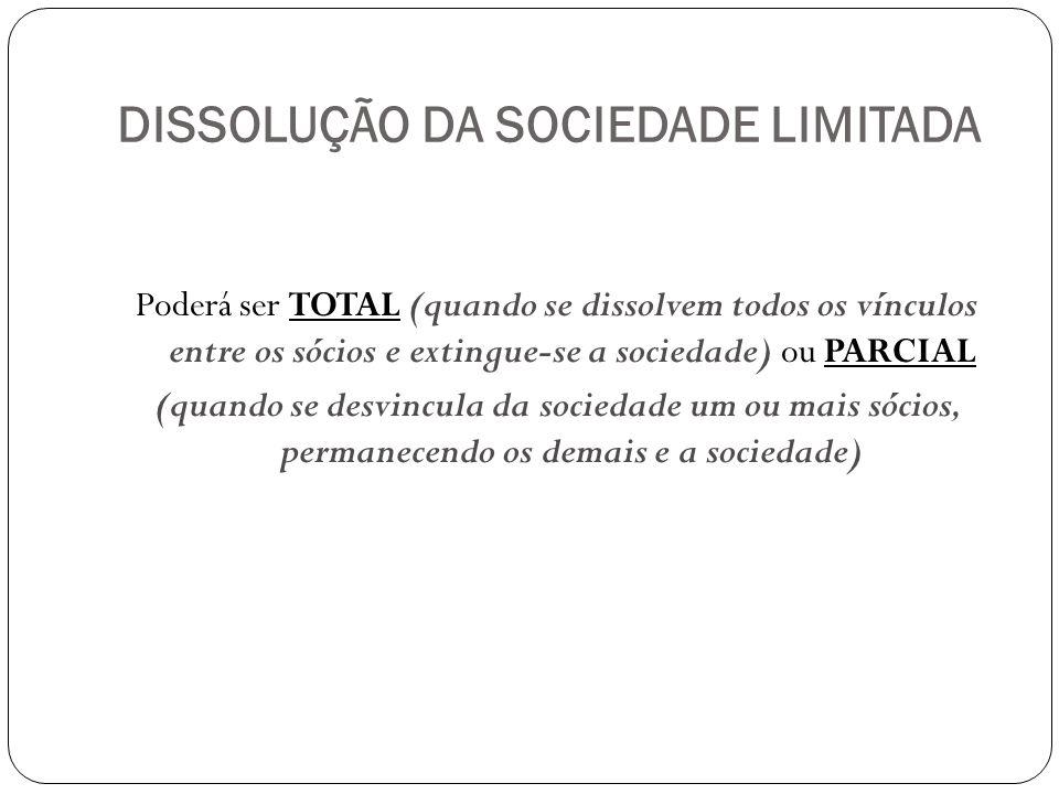 DISSOLUÇÃO DA SOCIEDADE LIMITADA