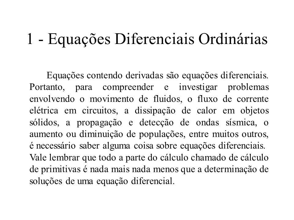 1 - Equações Diferenciais Ordinárias