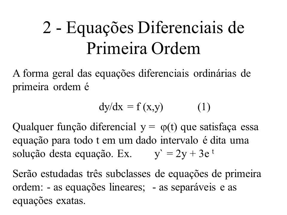 2 - Equações Diferenciais de Primeira Ordem