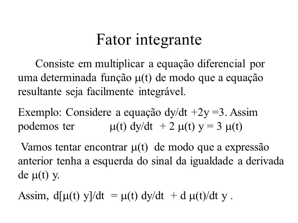 Fator integrante