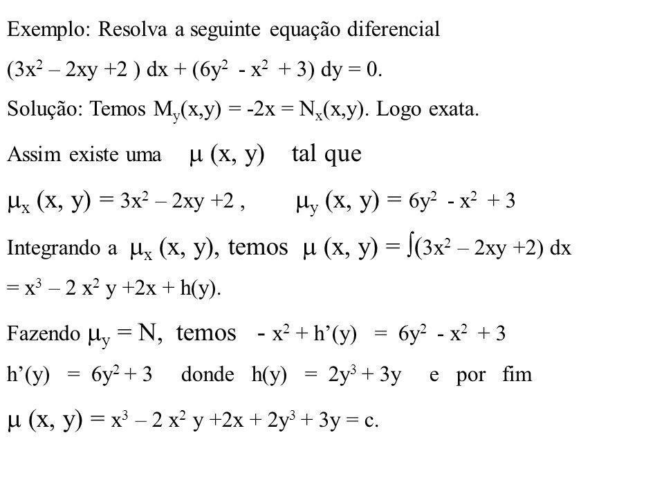 x (x, y) = 3x2 – 2xy +2 , y (x, y) = 6y2 - x2 + 3