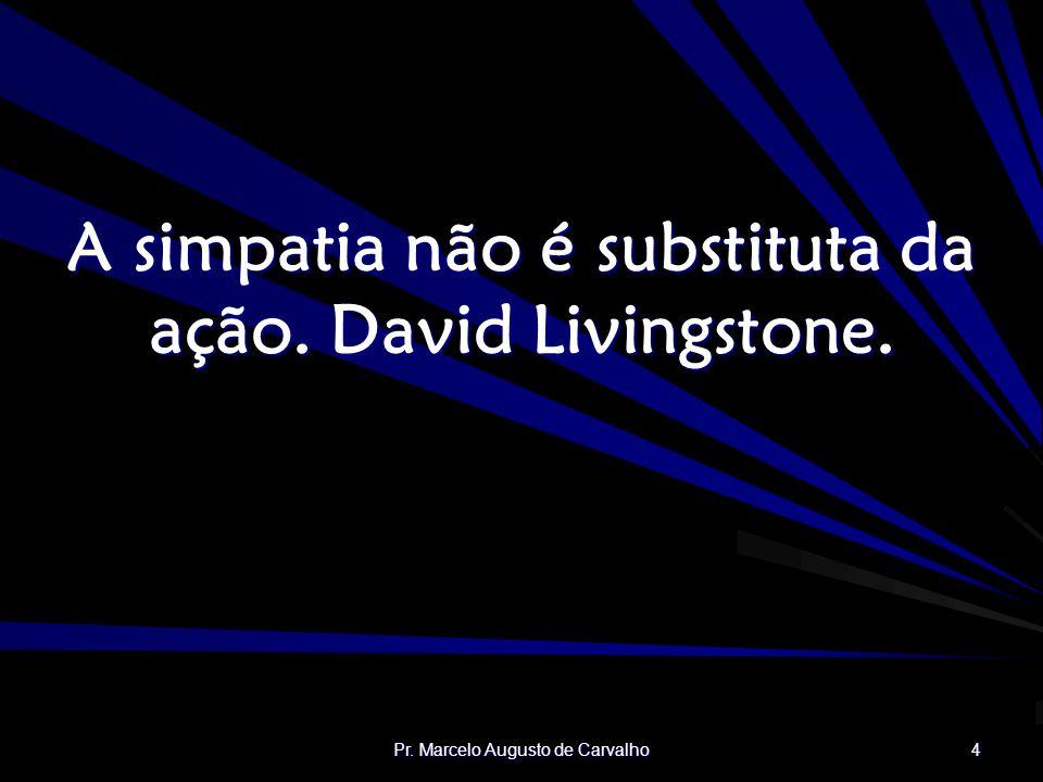A simpatia não é substituta da ação. David Livingstone.