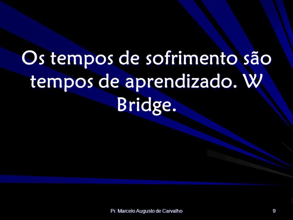 Os tempos de sofrimento são tempos de aprendizado. W Bridge.