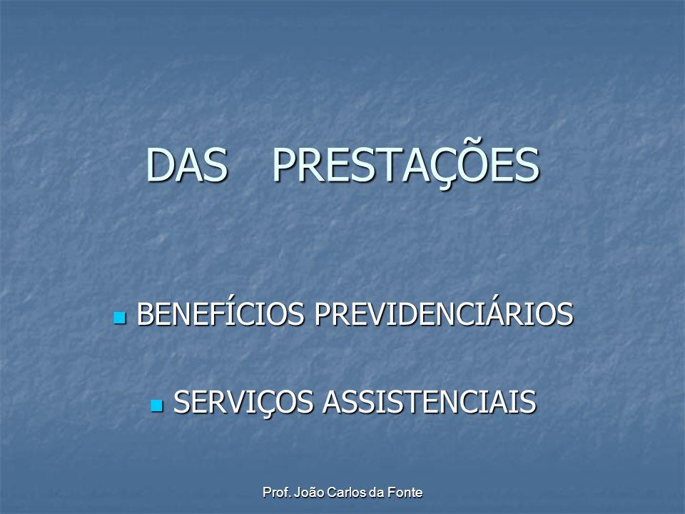 BENEFÍCIOS PREVIDENCIÁRIOS SERVIÇOS ASSISTENCIAIS