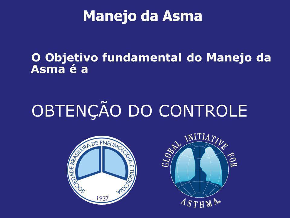 OBTENÇÃO DO CONTROLE Manejo da Asma
