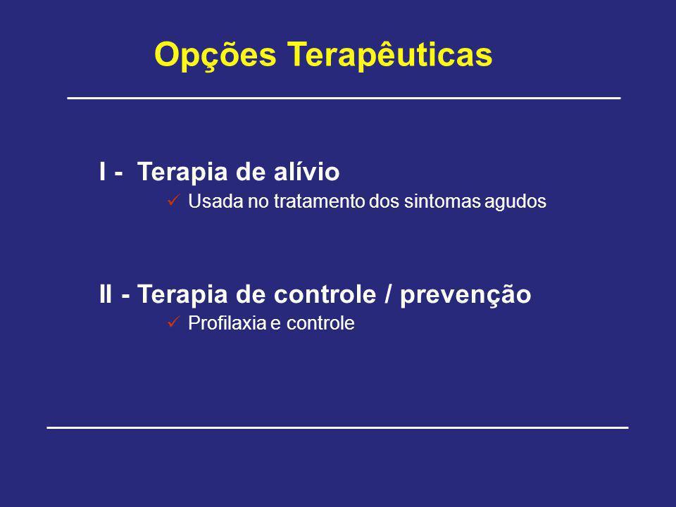 Opções Terapêuticas I - Terapia de alívio