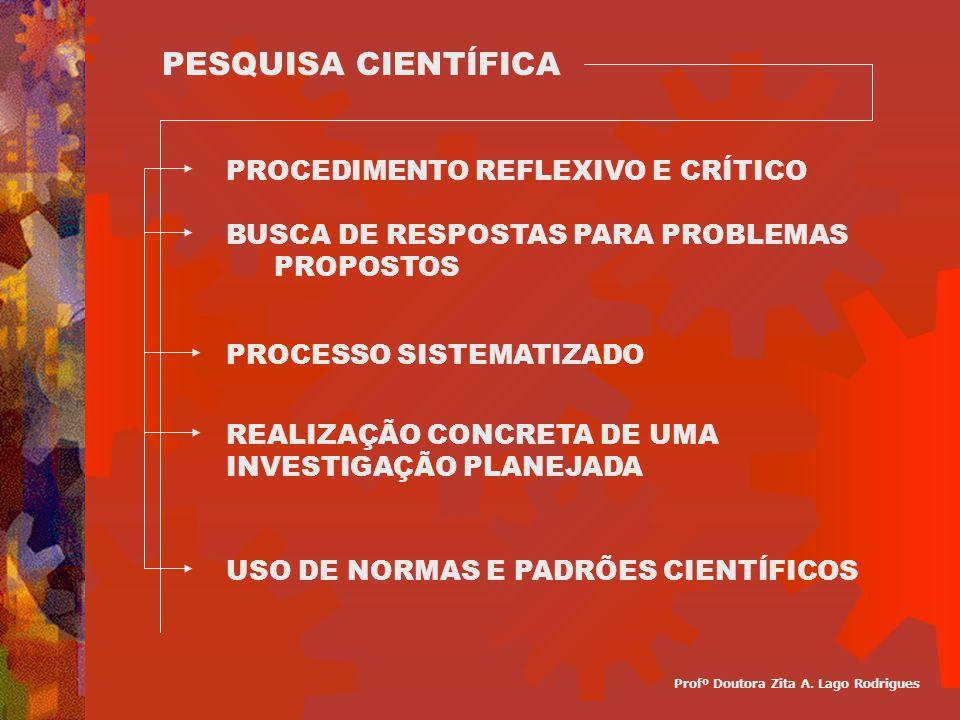 PESQUISA CIENTÍFICA PROCEDIMENTO REFLEXIVO E CRÍTICO