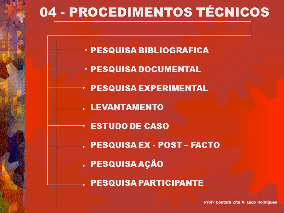 04 - PROCEDIMENTOS TÉCNICOS