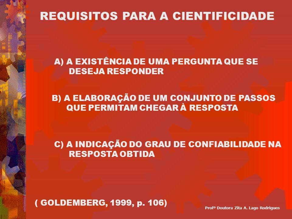 REQUISITOS PARA A CIENTIFICIDADE