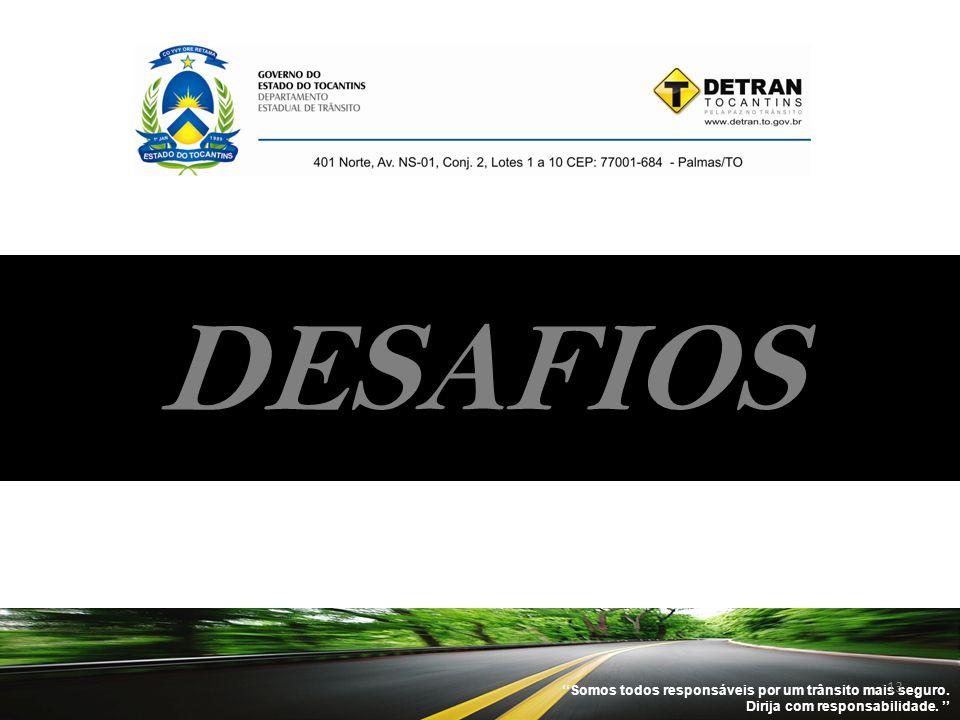 DESAFIOS ''Somos todos responsáveis por um trânsito mais seguro.