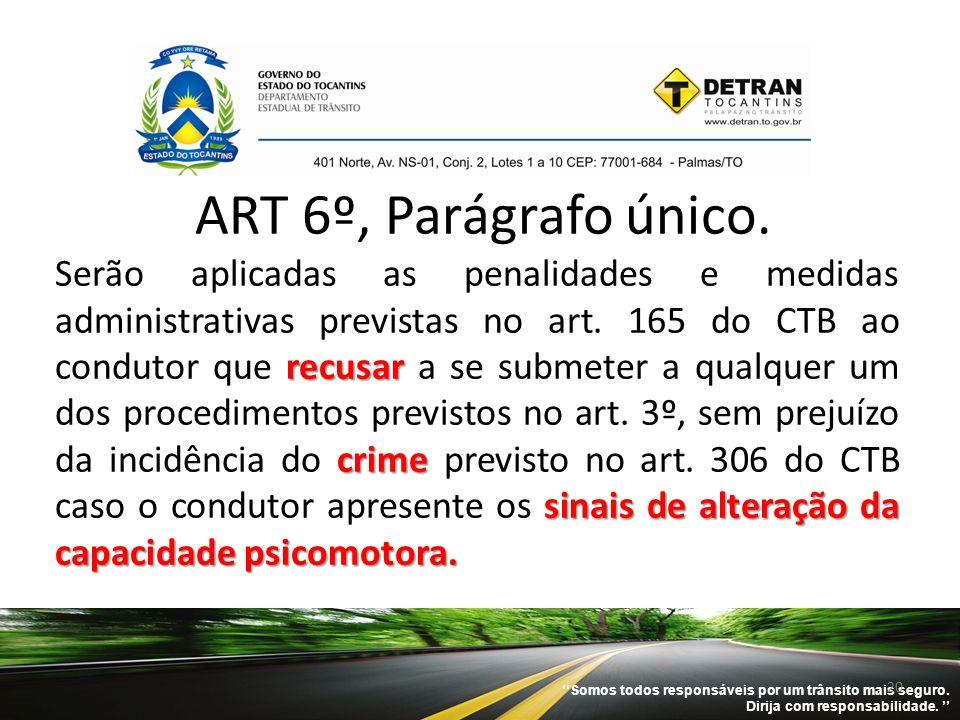 ART 6º, Parágrafo único.