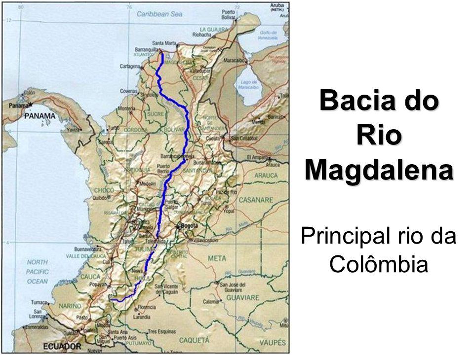 Bacia do Rio Magdalena Principal rio da Colômbia