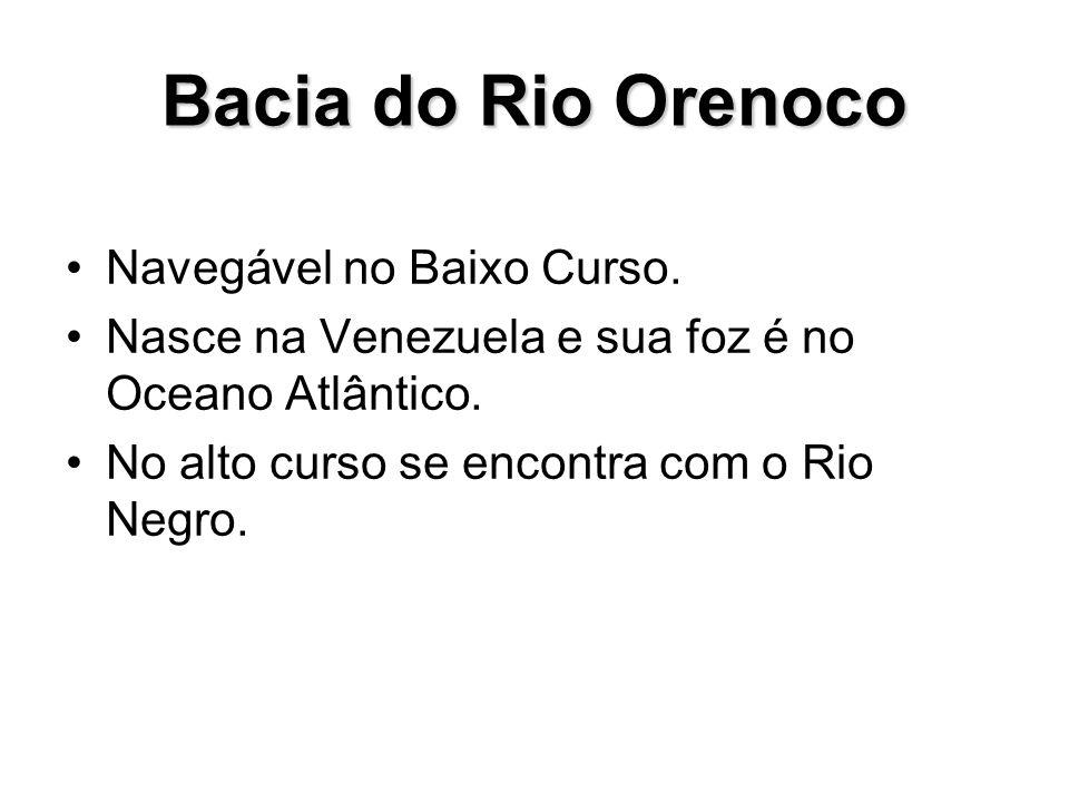 Bacia do Rio Orenoco Navegável no Baixo Curso.