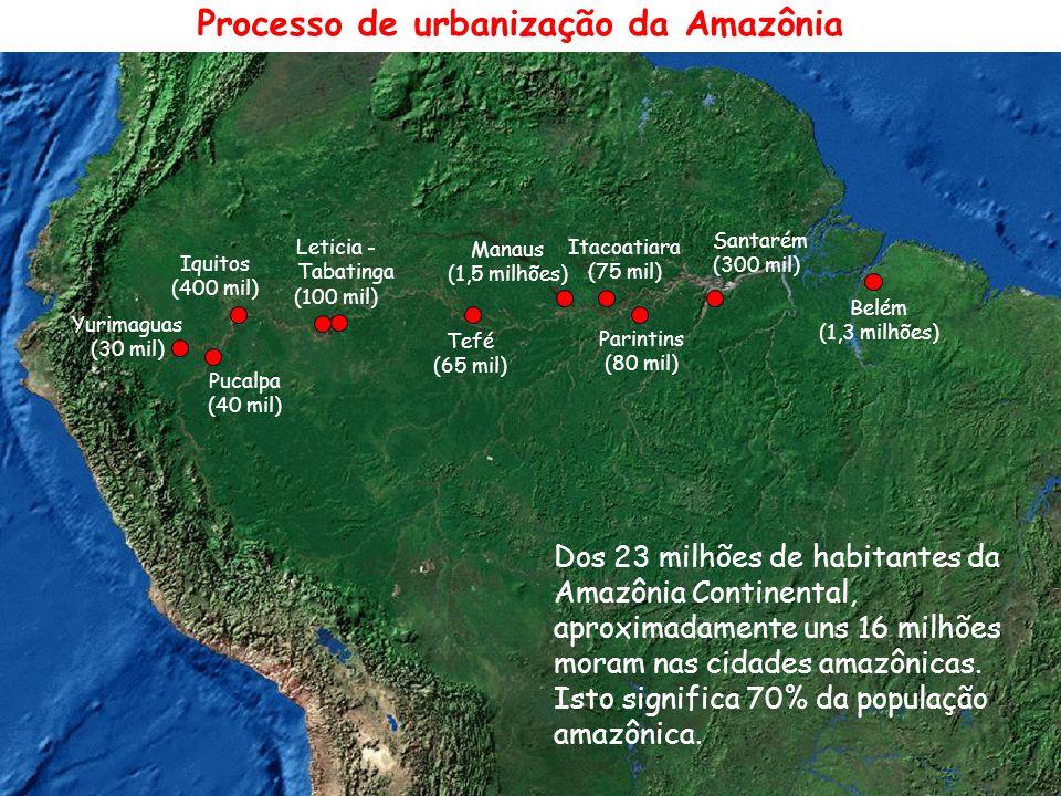 Processo de urbanização da Amazônia