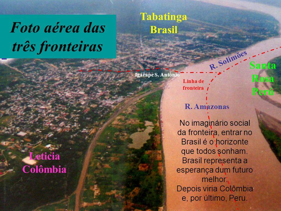 Foto aérea das três fronteiras