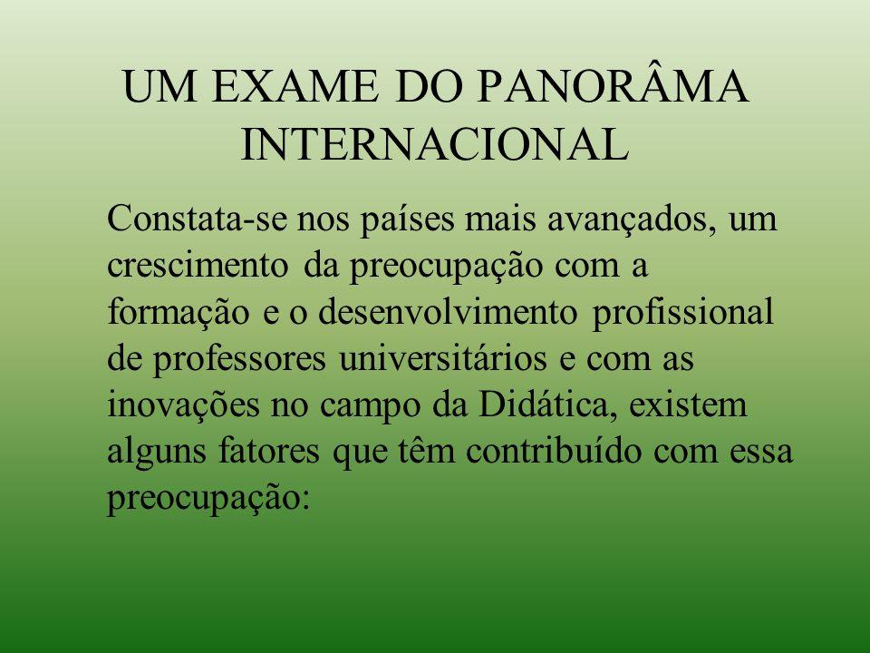 UM EXAME DO PANORÂMA INTERNACIONAL