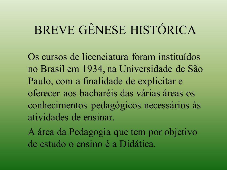 BREVE GÊNESE HISTÓRICA