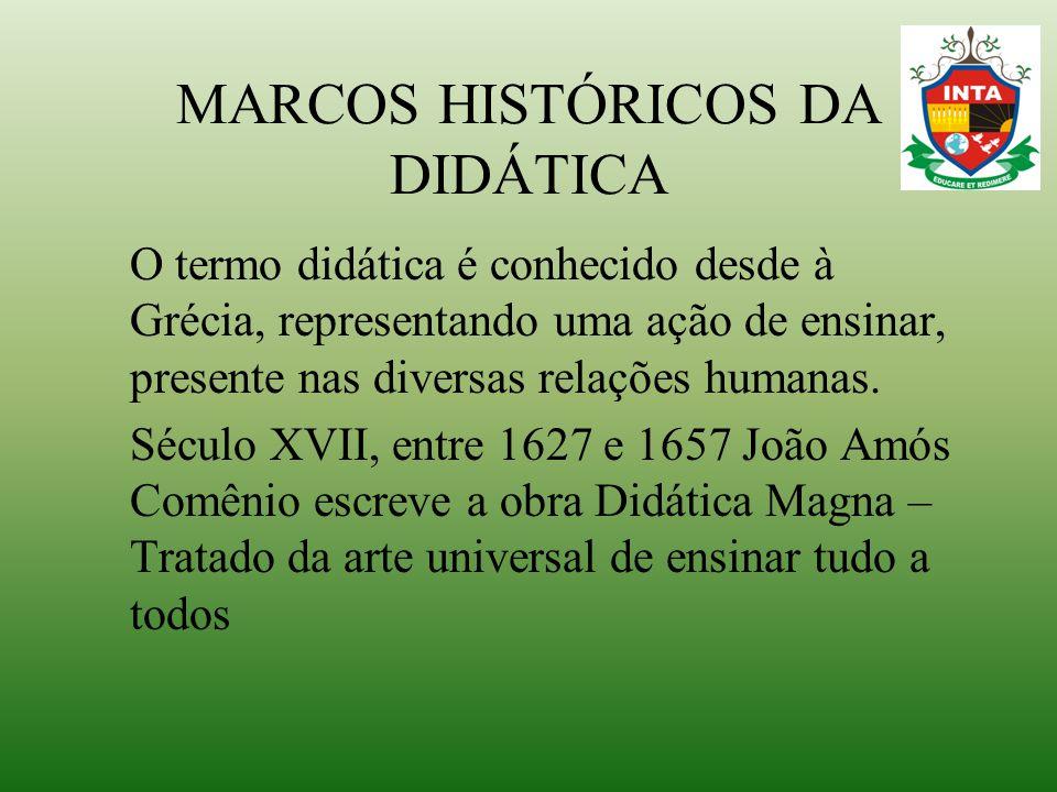 MARCOS HISTÓRICOS DA DIDÁTICA