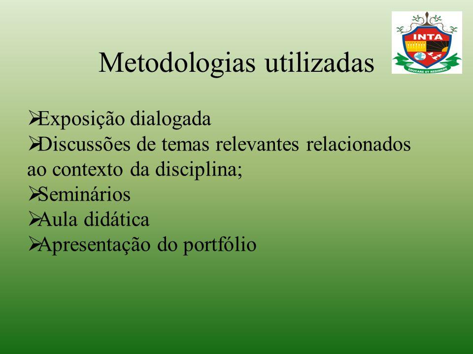 Metodologias utilizadas