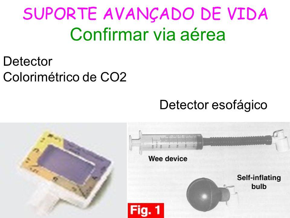 SUPORTE AVANÇADO DE VIDA Confirmar via aérea